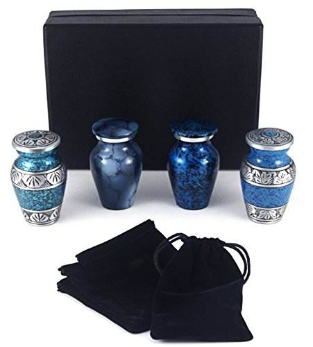 Set of 4 Small Mini Cremation Keepsake Urns