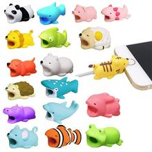 1 pcs pvc cute animals dog cat charging usb cable protector bite other mobile phone accessories