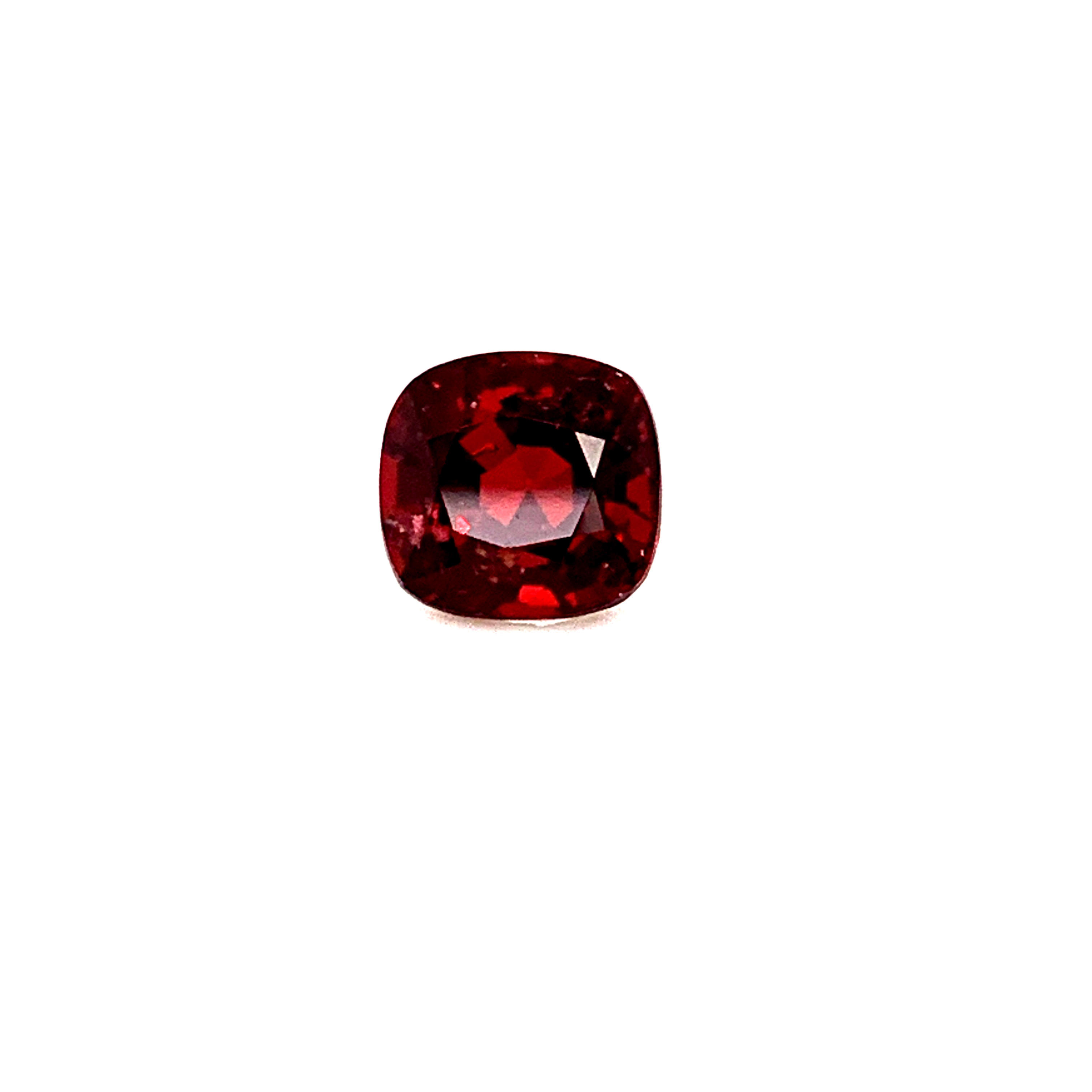 IGI Certified Natural Red Spinel Stone Faceted Cushion Cut Rare Non Heated Gemstone