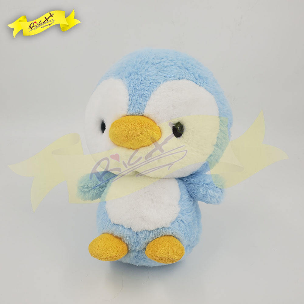 Audited Factory Custom Cuddly Baby Blue Penguin Plush for Kids Toy