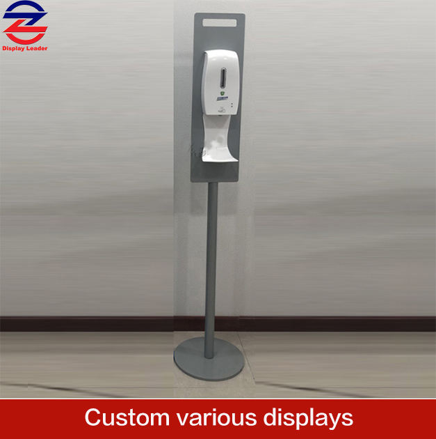 Floor Standing Hand Sanitizer Dispenser Display Stand with Disinfectant holder Portable Hand Sanitizing Stand Display