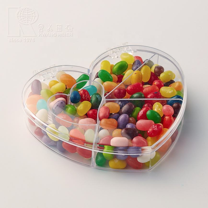 Kwang Hsieh Clear Heart Shape Acrylic Candy Box