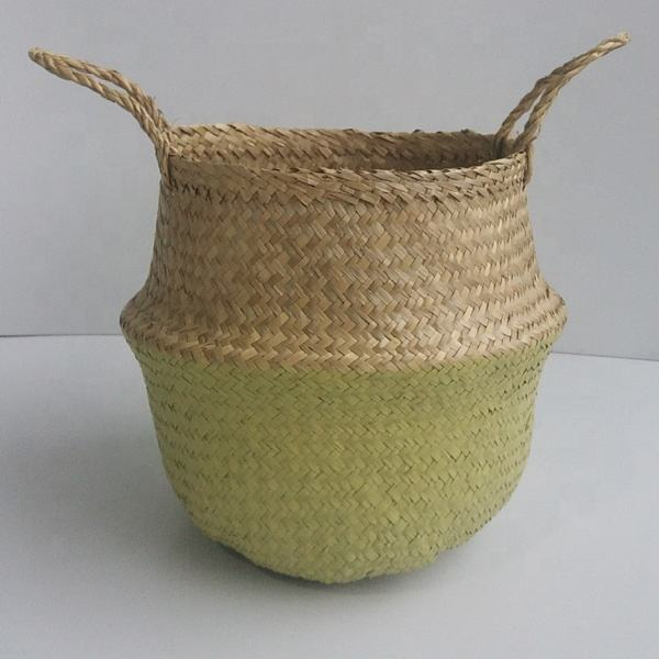 Vietnam manufacture craft color storage seagrass basket