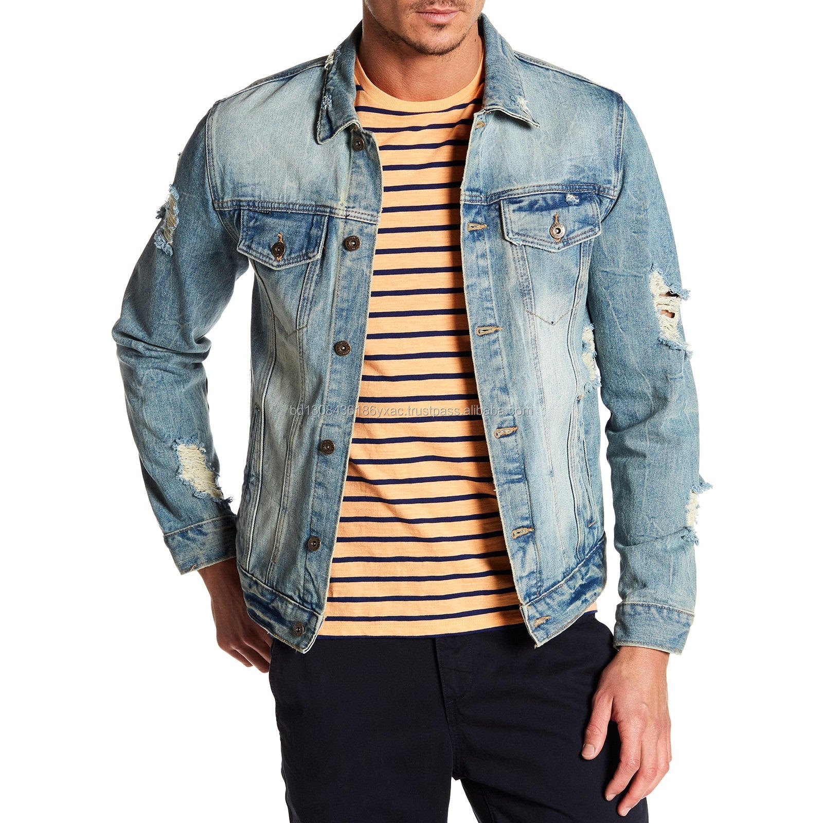 Export Oriented Wholesale Mens Denim Jacket From Bangladesh