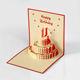 Nice Design Paper Craft From Skilled Artisan Birthday Cake 3D Custom Greeting Cards In Bulk