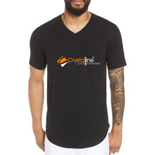 cotton wholesale men v-neck tshirts, slimfit casual Black tee shirts , high quality blank tshirts