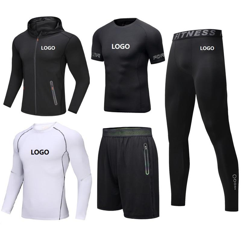 Vedo Compression Shirt Sportswear With Pocket Set Wholesale Custom Logo Sportsuit Shorts 5PCS GYM Compression Shirt