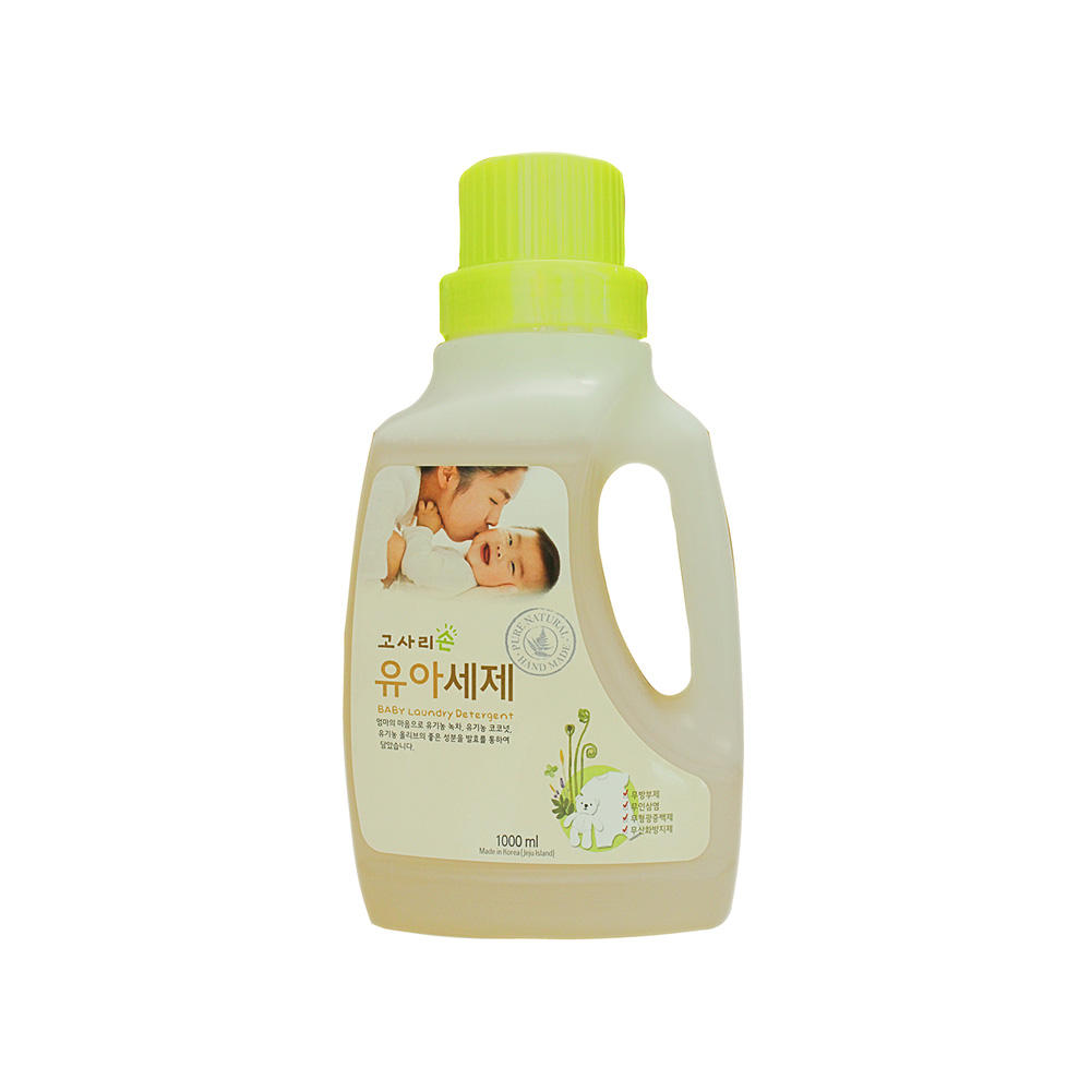 Gosarison Baby Laundry Detergent 1000ml 100% Plant-based Baby Laundry Detergent Jeju Natural Ingredients