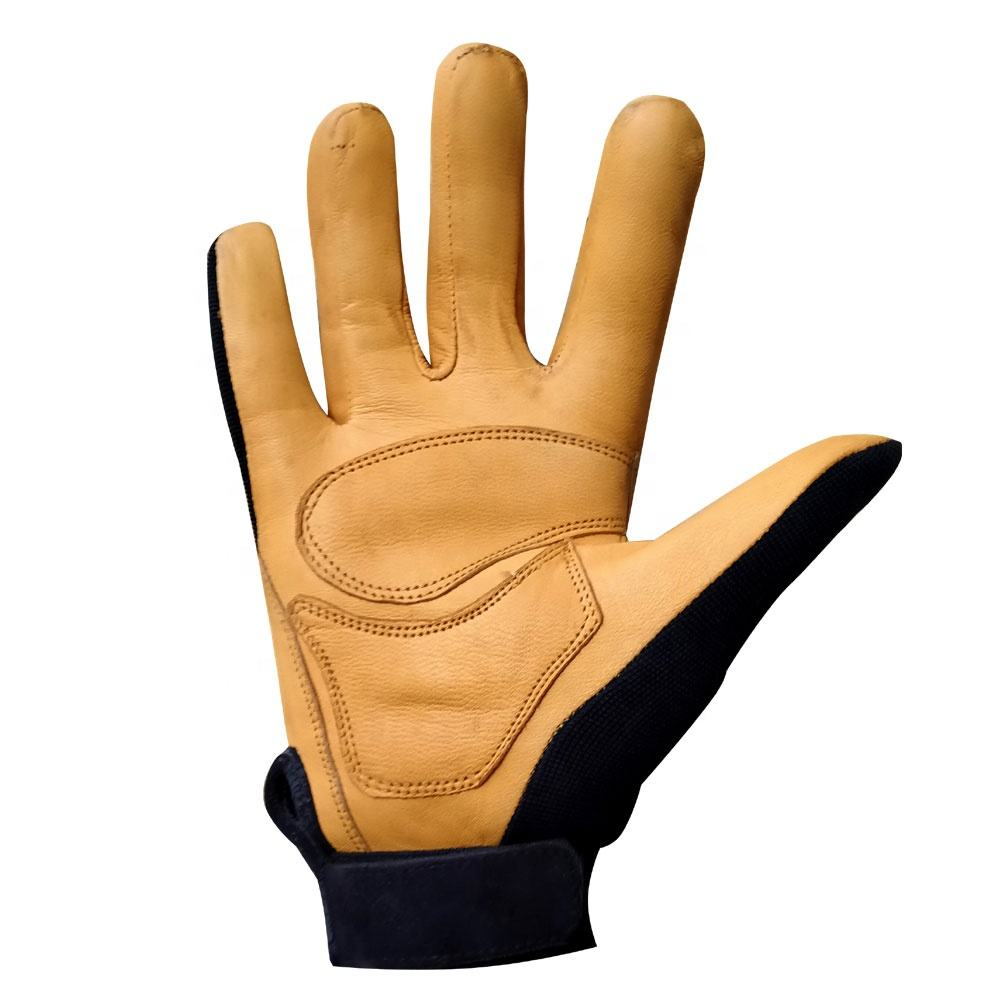 leather work gloves winter gloves a grade leather for safety working and driving double palm gloves