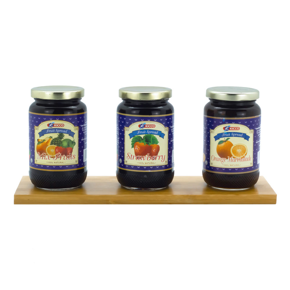 100% Natural Kicco Fruits Jam in Jar Wholesale Available in Different Flavors