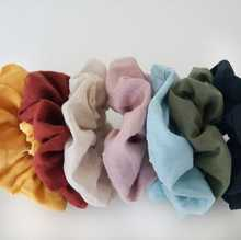 Handmade Beautiful Hair Ties 100% Flax Linen Accessories Cute Pony Tail Scrunchies Designs