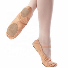 Women Custom high quality Lather Satin ballet shoes