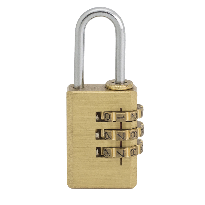 Brass 4 number Wheel password lock in Small Size for Luggages