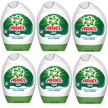 Ariel Regular Bio Actilift Concentrated Washing Detergent Gel 6 × 16 Washes IMPORT