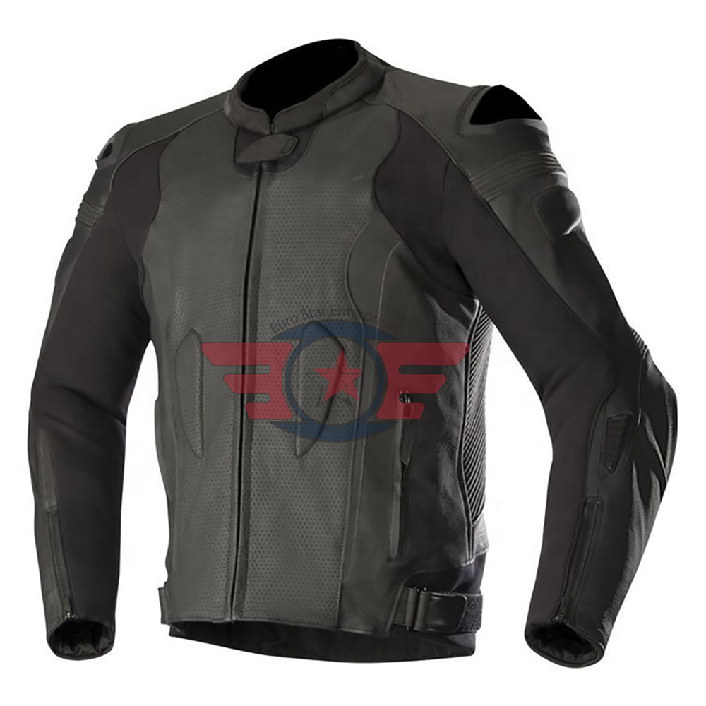 Mens Genuine Cowhide Leather Jackets Biker Jackets High Quality 2020 CE approved protectors