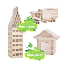 Eco-friendly Russian Craftsmen Wooden Blocks For Kids Set - Building Toys For 3,4,5,6 Year Old Boys,Girls