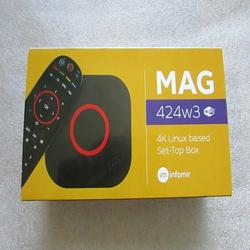 All New Informir MAG424w3 IPTV BOX HEVC H.265 Full HDTV tv tuner SET ON TOP BOX WIFI
