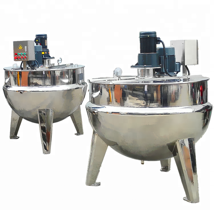 stainless steel industry kettle inox Food Processing Application commercial steam jacketed kettle with high shear mixer