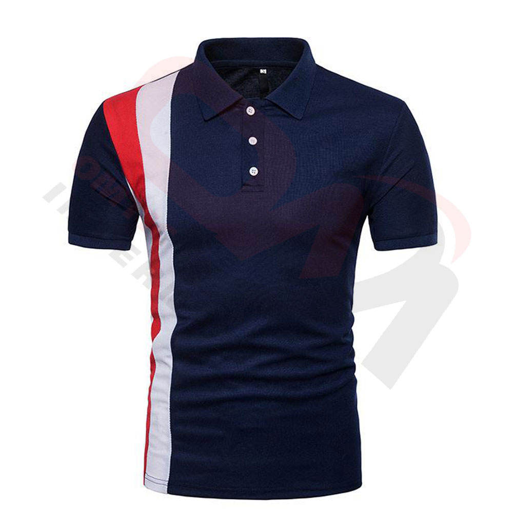 wholesale plain golf polo shirt design custom Navy blue mens polo shirt manufacturer