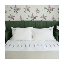 Flax Flower soft white bedding set bed linen for hotel and home