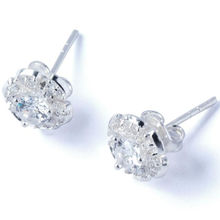 DohaJewel 950 ITLI premium silver earrings studded with fashionable gems for women as gifts, birthdays, and funerals