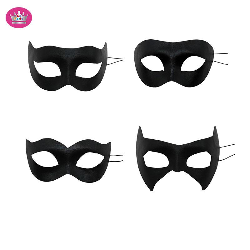 24 White Half mask party favors Mardi Gras Art Craft Zorro