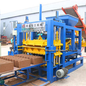 QT5-15 automatic hydraulic vibration concrete holland brick making machine