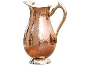 100% Pure Copper Pitcher / Copper Water Jug For- Ayurveda Health Benefits