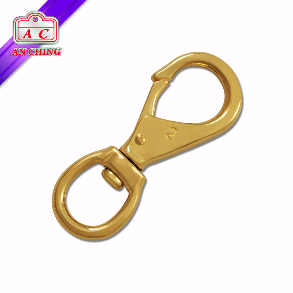 "3/4"" Different Size Golden Swivel Hook Solid Brass"