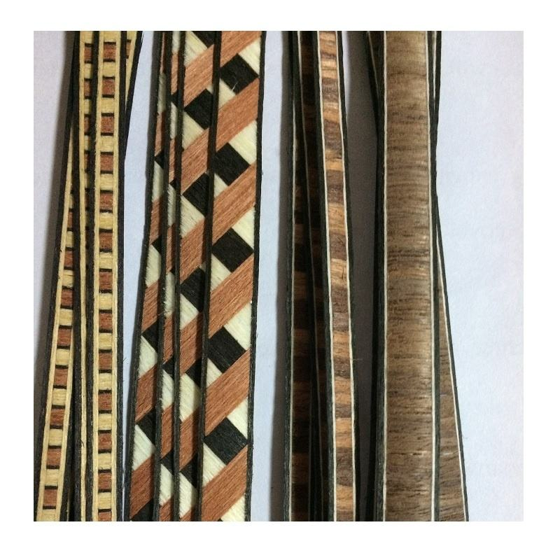 Natural Veneer Inlay Strip Border Wood Veneer for Door Furniture Decoration