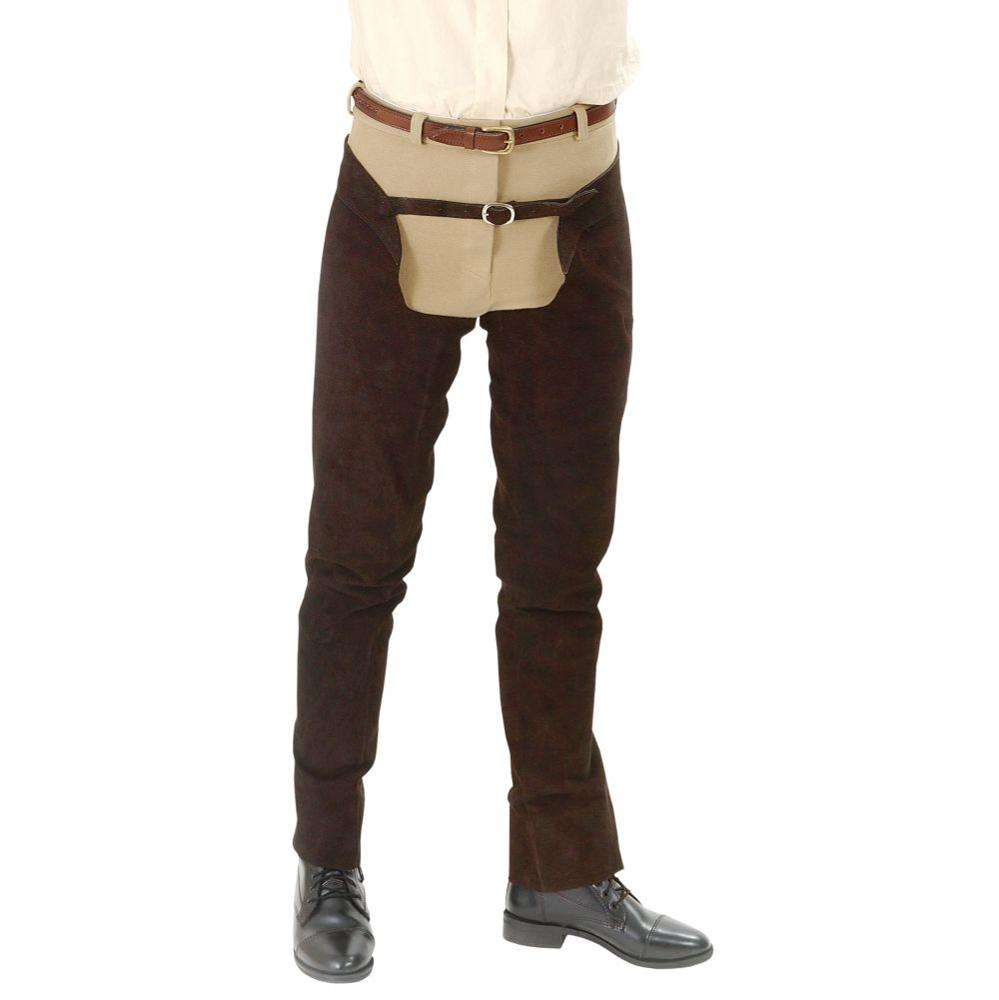 High Quality Wholesale Cost Tough-1 Suede Leather Schooling Chaps
