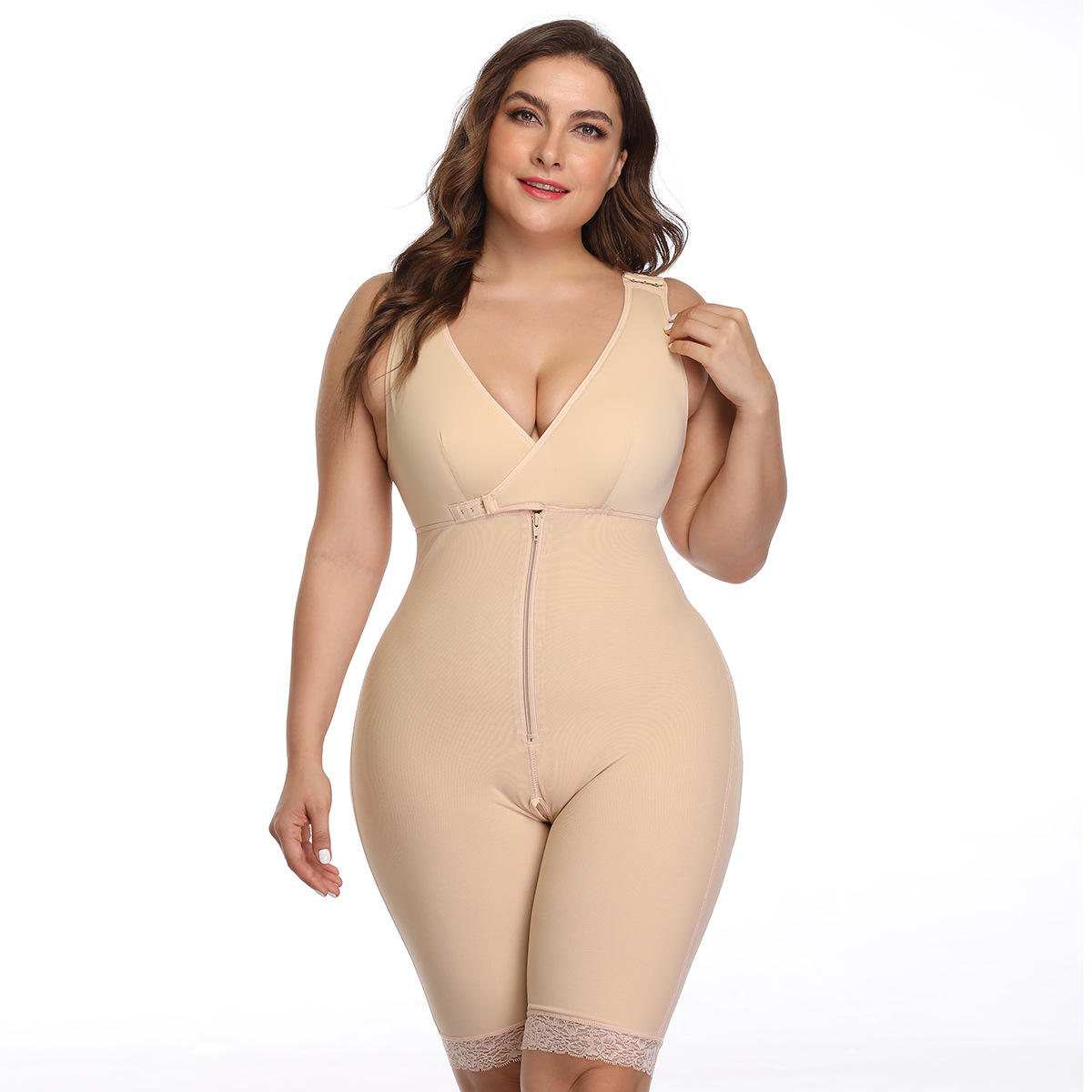 Tummy Shapewear 6XL Breathable Invisible Shapewear Butt Lifter Slimming Thigh Girdle Full Body Shaper