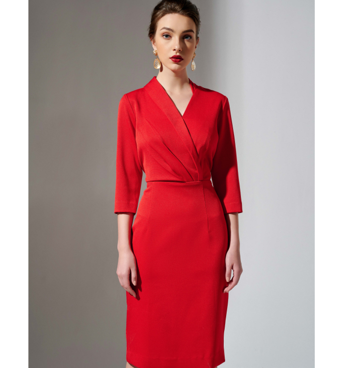 Fashion Women Dress Luxury Clothes Vietnam Factory Red Set Business Suit
