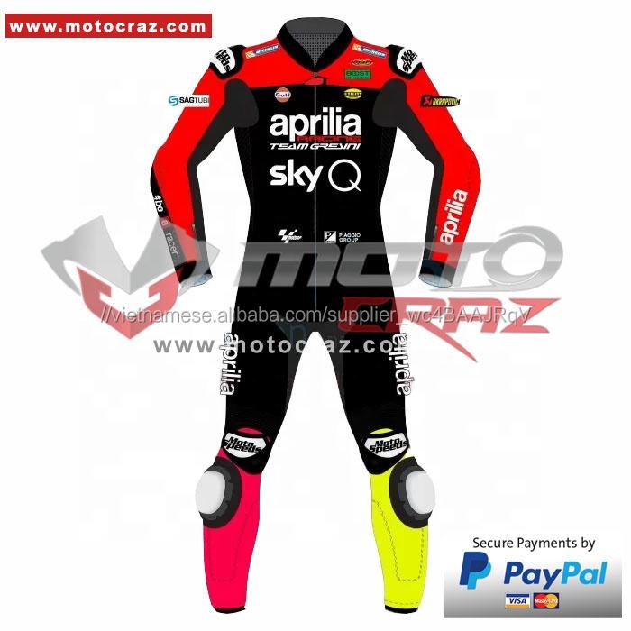 Tùy Chỉnh Thực Hiện Da Phù Hợp Với Chủng Tộc, Aleix Espargaro <span class=keywords><strong>Aprilia</strong></span>, Aleix Espargaro MotoGP 2019 Da Đua Phù Hợp Với