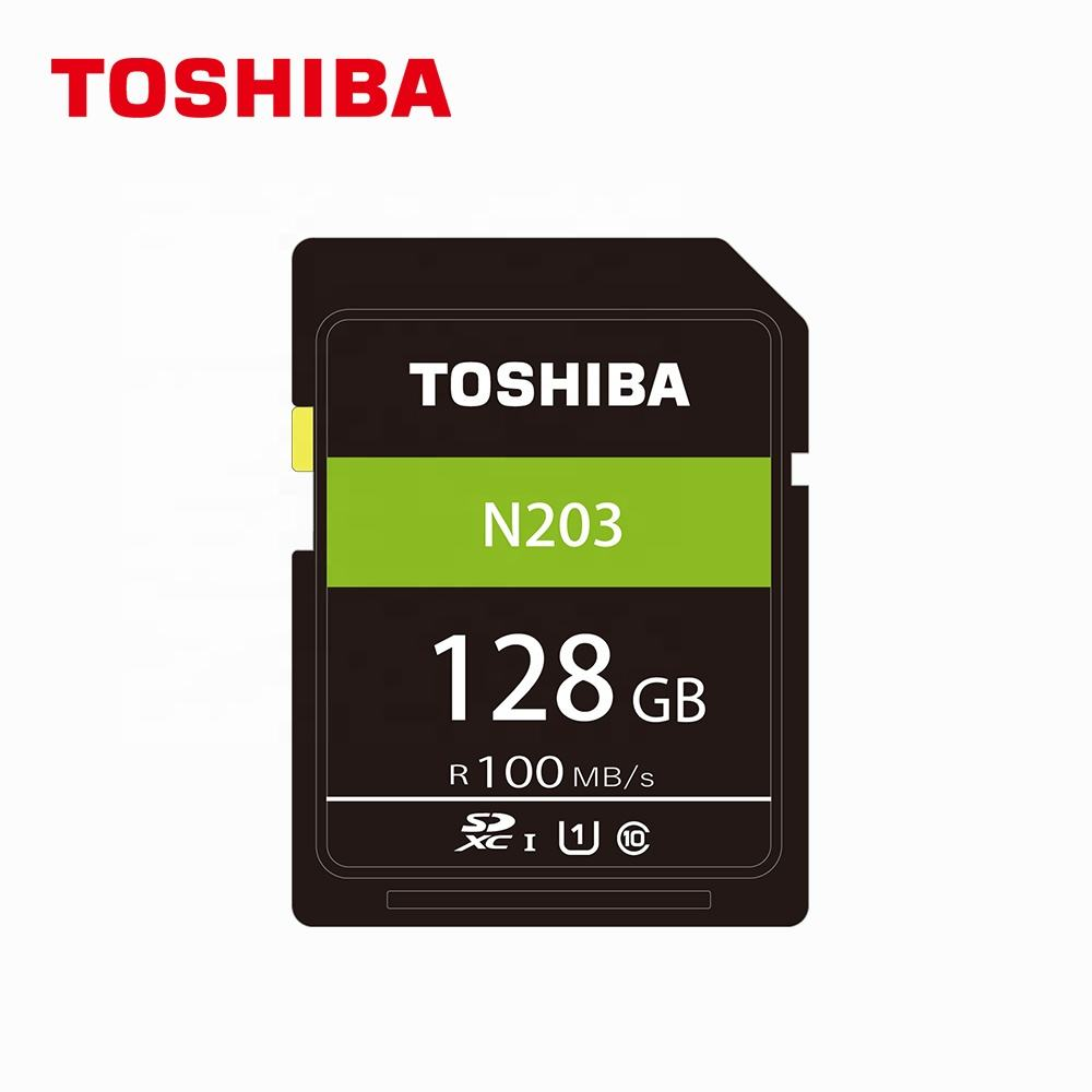 new item top quality TOSHIBA normal SD card N203 U1 Read 100MB/s class 10 memory card 128gb micro sd card