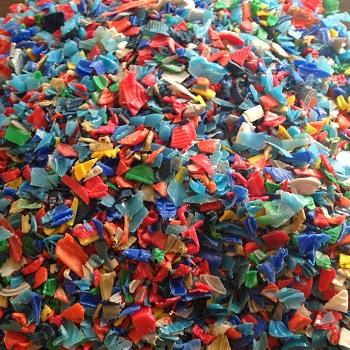 Mix colors regrinded HDPE buckets and bottles recycling Blowing grade scrap