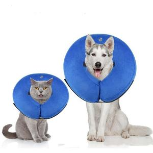 Amazon Hot Selling Pet Protective Inflatable Collar for Dogs and Cats E-Collar Elizabethan Collar