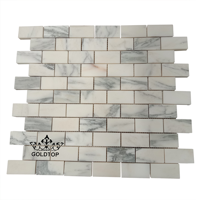 Hot Sale White Calacatta Arabescato Marble Mosaic Tiles Natural Stone