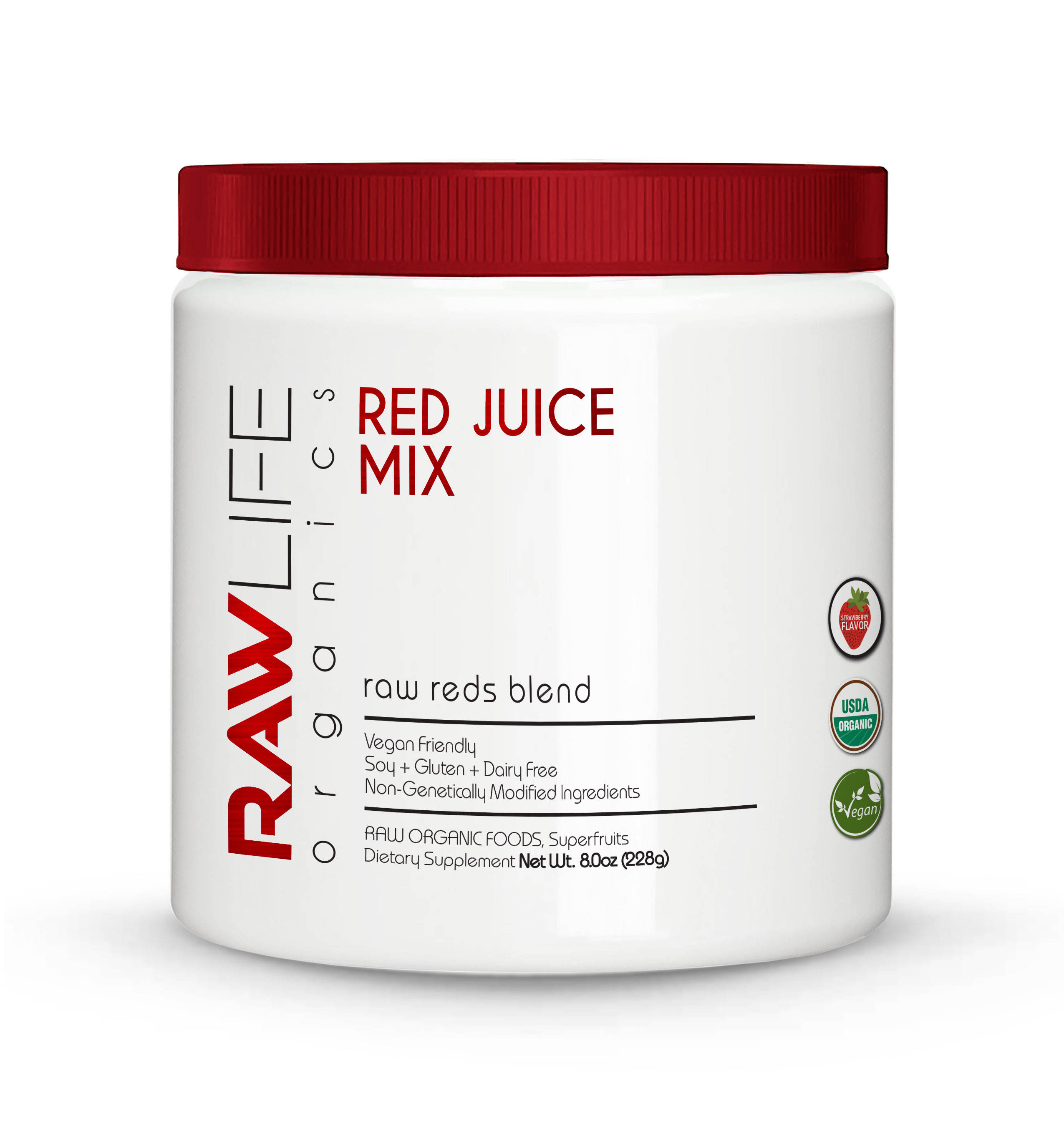 Organic Natural Raw Reds Blend Health Drink