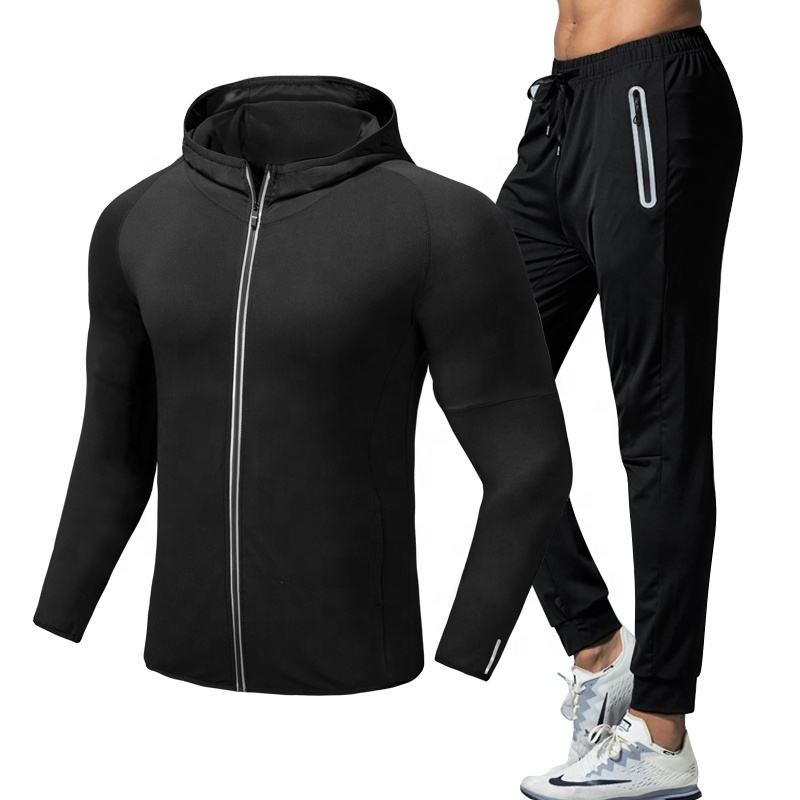 Dry Fit Blank Men Gym Fitness Clothing Slim Fit Sport Wear Running Sports Tracksuit