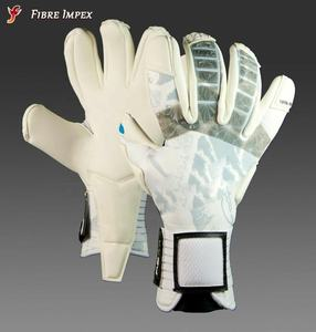 High quality stylish professional level goalkeeper football goalie gloves in negative cut neoprene punch zone German latex