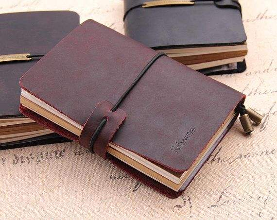 Leather Notebook - Wanderings Refillable Travel Journal - Hand-Crafted Genuine Leather Journal for Writing, Poets, Travelers, as