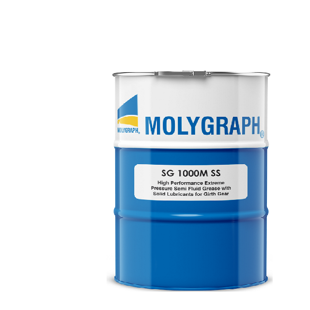 Molygraph SG 1000 M SS - HIGH PERFORMANCE EXTREME PRESSURE SEMI FLUID GREASE WITH SOLID LUBRICANTS FOR GIRTH GEAR