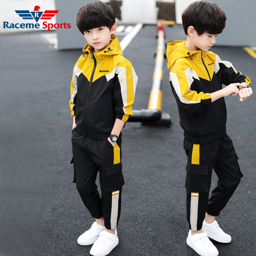 New Arrival Fashion Kids Tracksuit Full Zipper Comfortable Outing Jogging Training Street Wear Kids Tracksuit
