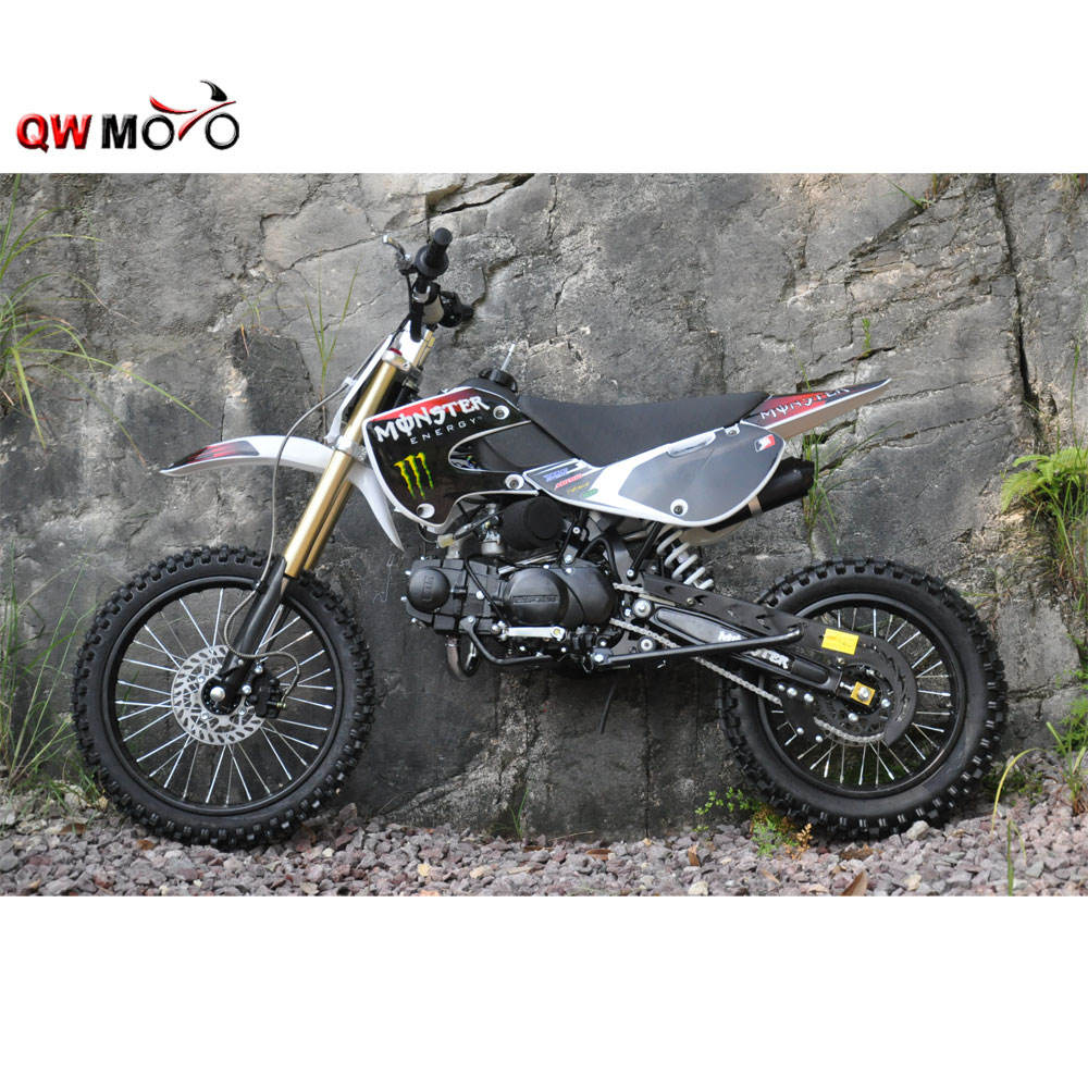 QWMOTO KLX stile moto cross 125cc dirt bike racing pit bike CE