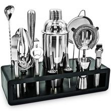 Manufacture supply new arrival professional bar tools accessories 25-Piece bartender kit with stand