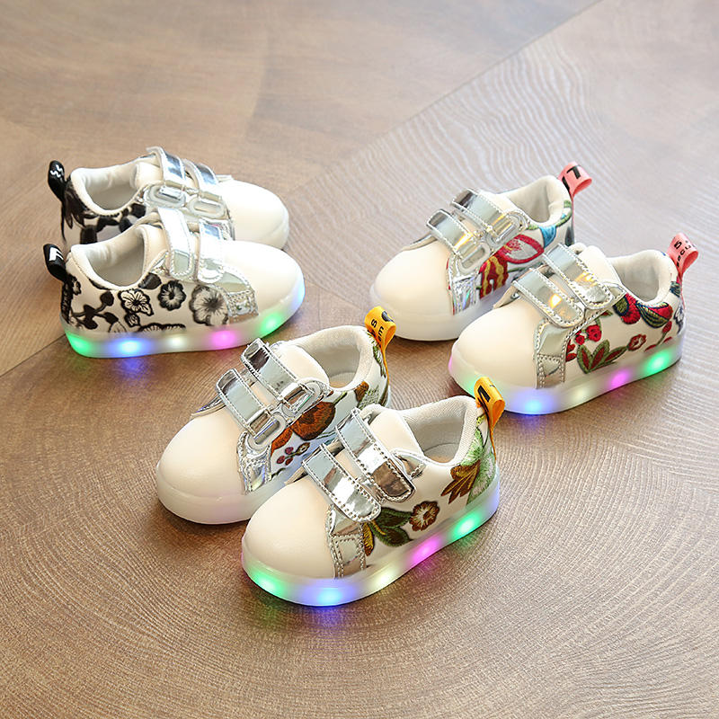 2020 Flash Children Shoes Led Luminous Casual Shoes For Children Led Shoes