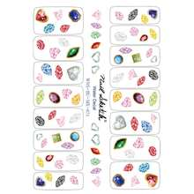 Korea Nail Super-thin Water Decals jewelry Nail Water Wraps Stickers