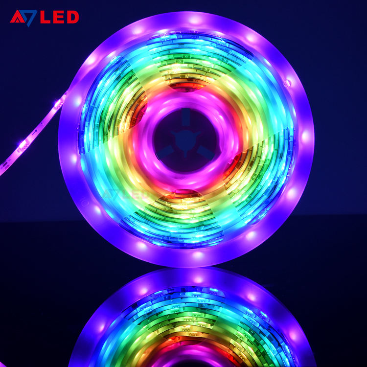 Wifi Control Smart Tira Luces LED 12V 24V SMD 5050 WS2811 Pixel Digital Addressable RGB Dream Color LED Strip