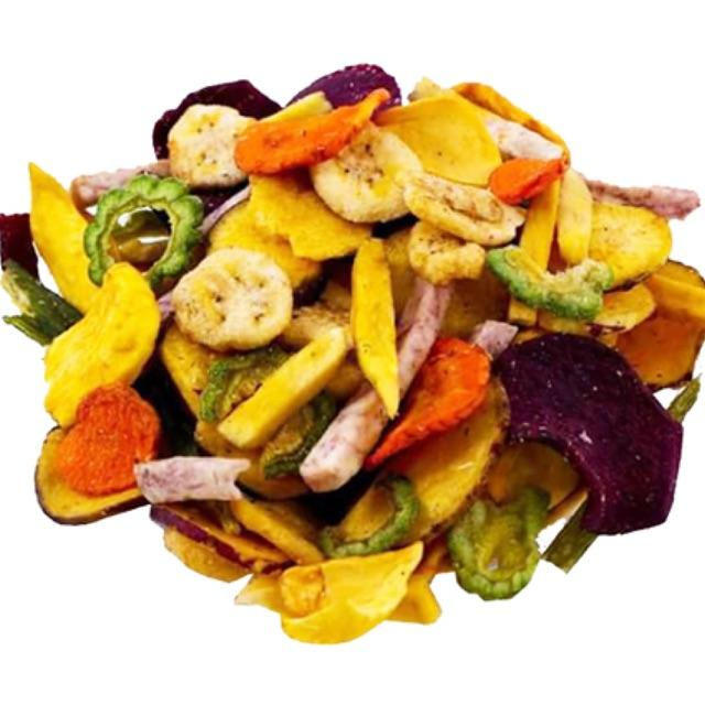 Mixed Fruits and Vegetables Chips - Banana, Jackfruit, Potato, Taro, Guava, Okra, Bitter gourd, Carrot, Pumpkin